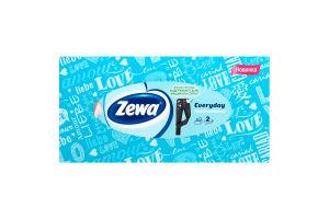Платочки бумажные 20.8х20см 2-х слойные Everyday Zewa 100шт
