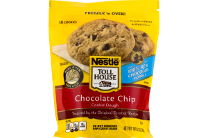 Nestle Toll House Chocolate Chips Cookie Dough - 18 CT