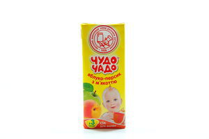Сок яблочно-персиковый с мякотью ОКЗДП Чудо-чадо т/п 0,2л