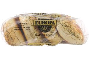 Europa Kaiser Deli Rolls - 6 CT