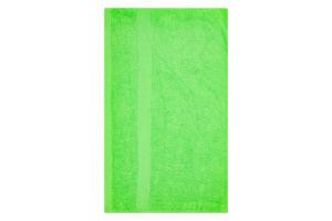 Рушник махровий зелений 50х90см 400г/м2 Саффран 1шт