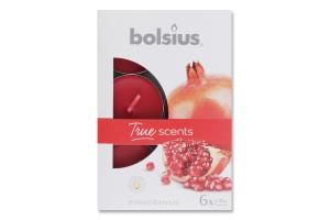 Н-р Bolsius Свечи Гранат аромат чайные 6шт