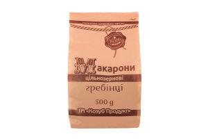 Макароны цельнозерновые гребешки Козуб продукт м/у 500г