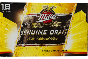 Miller Genuine Draft Beer - 18 PK