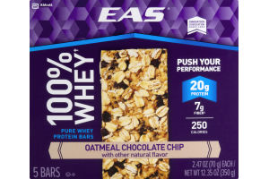 EAS 100% Whey Protein Bars Oatmeal Chocolate Chip - 5 CT