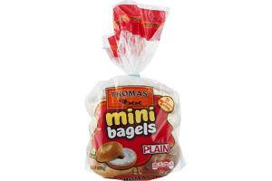 Thomas' Mini Bagels Plain - 10 CT