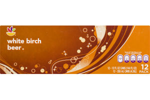 Ahold White Birch Beer Soda - 12 CT