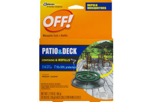 OFF! Mosquito Coil / Refills Patio & Deck - 6 CT