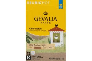 Keurig Hot Gevalia Kaffe Colombian Medium Roast - 12 CT