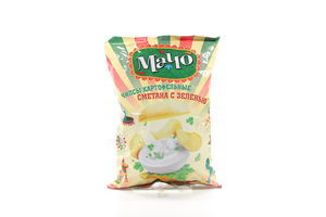 Чипсы со вкусом сметаны с зеленью Мачо м/у 110г