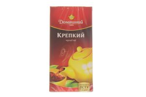 Чай черный Крепкий Домашний чай к/у 20х2г