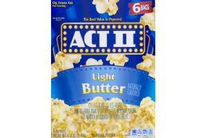 ACT II Microwave Popcorn Light Butter - 6 CT