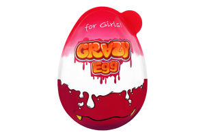 Яйце пластикове з цукерками і сюрпризом для дівчат Crazy Egg п/у 40г