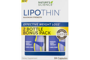 Nature's Science Lipothin Effective Weight Loss Maximum Strength - 84 CT