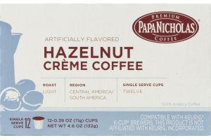 Papa Nicholas Hazelnut Creme Coffee Single Serve Cups - 12 CT