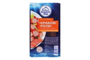 Продукт из сурими с мясом лосося Крабовые роллы Водный Мир м/у 200г
