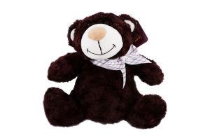 Игрушка мягкая для детей от 3лет коричневая с бантом 25см №2502GMB Медведь GranD 1шт