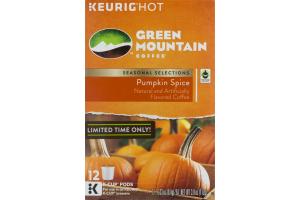 Keurig Hot Green Mountain Coffee Seasonal Selections Pumpkin Spice K-Cup Pods - 12 CT
