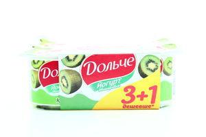 Йогурт President Дольче киви 3,2% 4*120г Акция