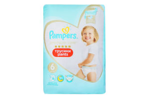 Подгузники трусики pants 15+кг Premium Care Pampers 18шт