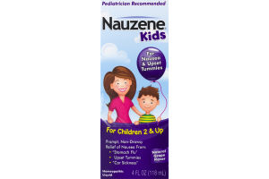 Nauzene Kids For Nausea & Upset Tummies Natural Grape Flavor