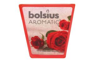 Свеча Bolsius Роза арома квадратная 47/47мм