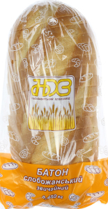 Батон звичайний Слобожанський Ново-Баварський хлібозавод м/у 450г