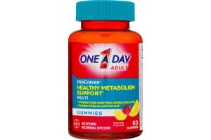 One A Day Adult VitaCraves Healthy Metabolism Support Multi Gummies - 60 CT