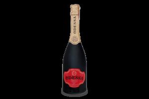 Шампанское ОДЕССА красное полусладкое