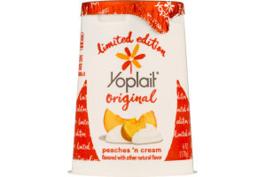 Yoplait Original Low Fat Yogurt Peaches 'n Cream