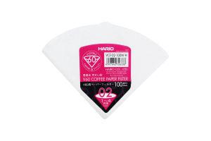 Фильтр бумажный для пуровера белый V60 02 №VCF-02-100W-H Hario 100шт