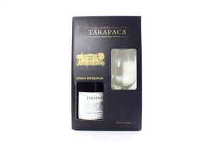Набір Tarapaca Cabernet Sauvignon Gr.Res. 0.75л +Бокал x3