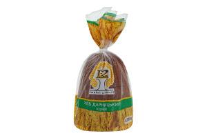 Хліб подовий половинка в нарізці Дарницький Рома м/у 0.375кг