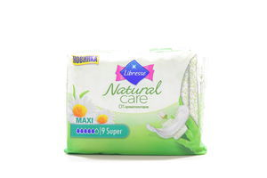 Прокл гіг Libresse Natural Care Maxi Super, 6 мм, 9 шт.