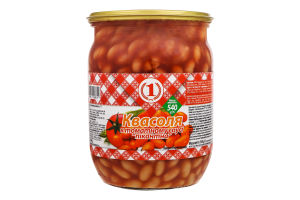 Фасоль в томатном соусе Пикантная №1 с/б 540г