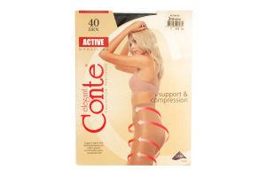 Колготы женские Conte Active 40den 3 nero