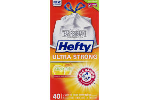 Hefty Ultra Strong 13 Gallon Tall Kitchen Drawstring Bags Citrus Twist - 40 CT