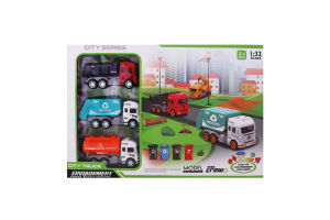 Набір ігровий для дітей від 3років 1:32 №JW567-010 City truck Shantou Jinxing Plastics 1шт