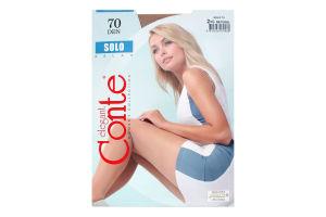 Колготки жіночі Conte Solo №15С-43СП 70den 2-S natural