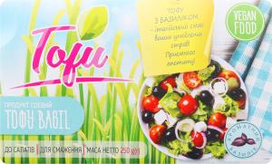 Продукт соєвий з базиліком Тофу Шинкар Агро м/у 250г