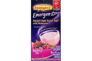 Emergen-C Emergen-ZZZZ Nighttime Sleep Aid with Melatonin Berry PM