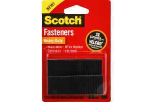 Scotch Fasteners Heavy-Duty Black - 2 PK