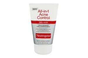 Neutrogena All-in-1 Acne Control Daily Scrub