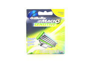 Картридж сменный для станка мужской Mach 3 Sensitive Gillette 8шт