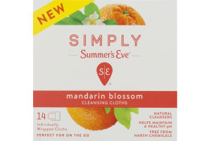 Simply Summer's Eve Cleansing Cloths Mandarin Blossom - 14 CT