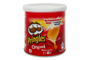 Чипсы картофельные Оригинальные Pringles туб 40г