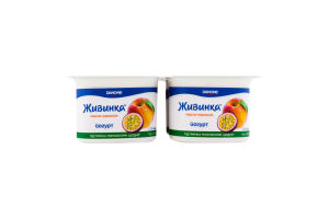 Йогурт 1.2% Персик-маракуйя Живинка ст 4х115г