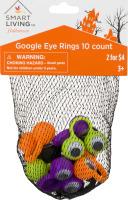 Smart Living Halloween Google Eye Rings - 10 CT