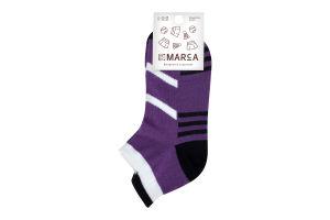 Шкарпетки спортивні жіночі Marca №Ж311 23-25 фіолетові