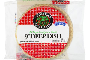 "Oronoque Orchards Flaky Homestyle Pie Crusts 9"" Deep Dish - 2 CT"